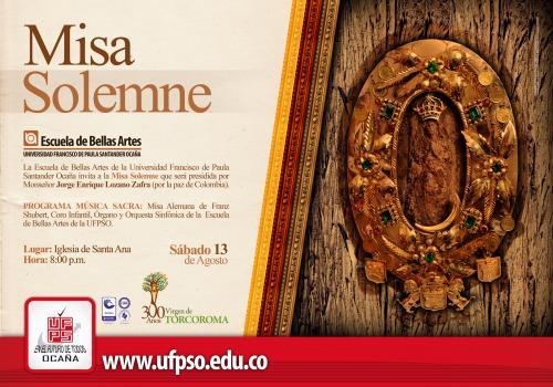Misa Solemne ofrecida por la UFPS Ocaña